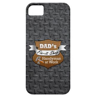 Funny Dad's Fix-it Shop Handy Man Father's Day iPhone 5 Case