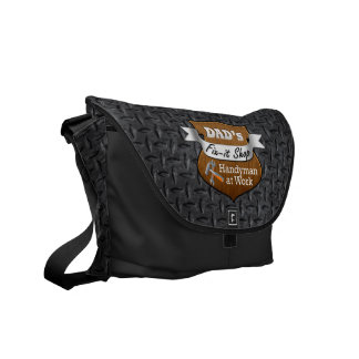 Funny Dad's Fix-it Shop Handy Man Father's Day Messenger Bags