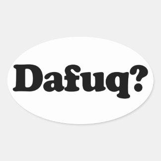 Funny dafuq humor sticker