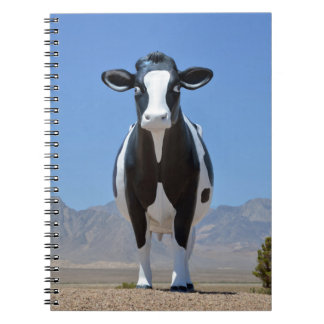 Funny Dairy Cow Statue Desert Heifer Cattle Animal Spiral Note Books