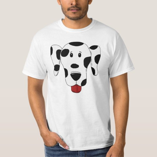 Funny dalmatian dog head T-Shirt