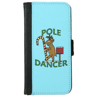 Funny Dancer Christmas Reindeer Pun iPhone 6 Wallet Case