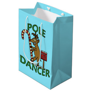 Funny Dancer Christmas Reindeer Pun Medium Gift Bag