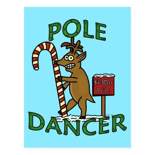 Funny Dancer Christmas Reindeer Pun Postcard
