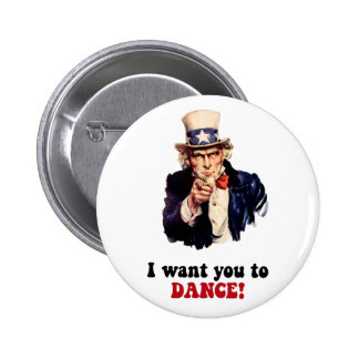 Funny dancing 6 cm round badge