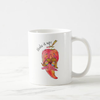 Funny Dancing Chile Pepper Coffee Mug