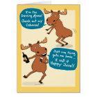 Funny Dancing Moose Birthday Card