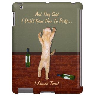 Funny Dancing Orange Party Cat iPad Case
