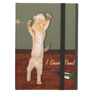 Funny Dancing Orange Party Cat Case For iPad Air
