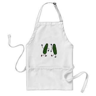 Funny Dancing Pickles Art Standard Apron