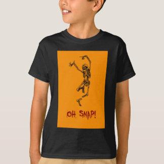Funny Dancing Skeleton Oh Snap T-Shirt