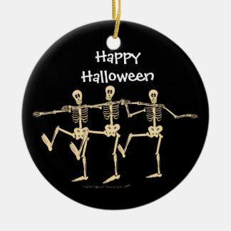 Funny Dancing Skeletons Halloween Ornament