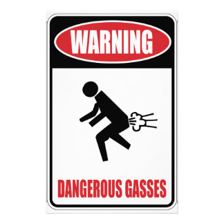 Funny Dangerous Gasses Stationery