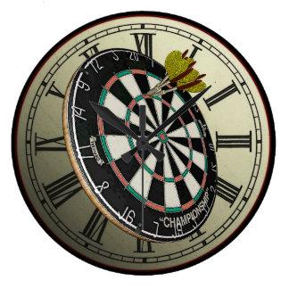 Funny Dartboard Design Wall Clock