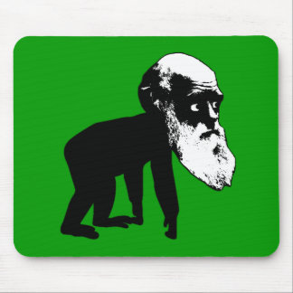 Funny Darwin evolution Mouse Mat