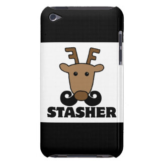 funny dasher stasher mustache reindeer iPod touch cases