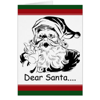 Funny Dear Santa....letter from Adult Woman Card