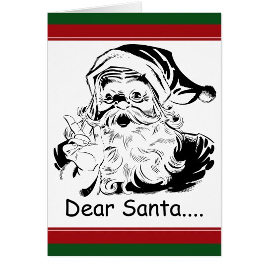 Funny Dear Santa.letter from Adult Woman Card