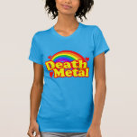 Funny Death Metal Rainbow (distressed look) T-shirts