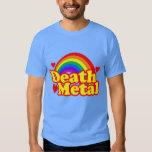 Funny Death Metal Rainbow (distressed look) Tshirts