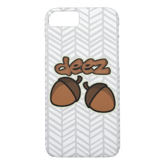 Funny deez nuts with herringbone iPhone 7 case