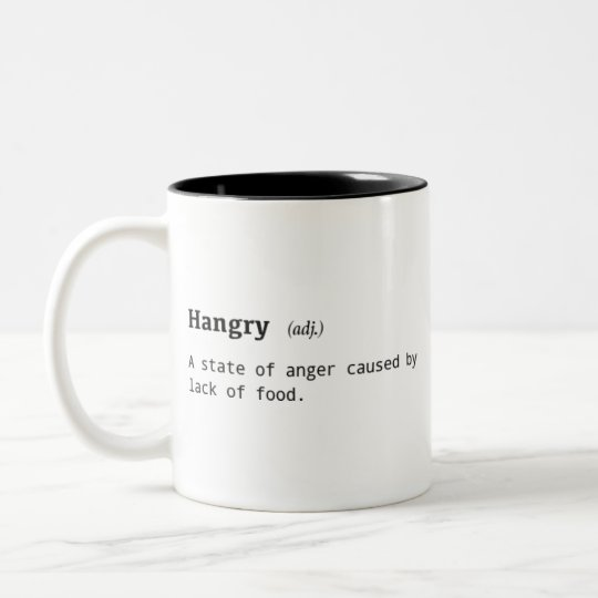 Funny Definition of Hangry Coffee Mug