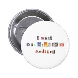 Funny Demand For Money Ransom Note Collage 6 Cm Round Badge