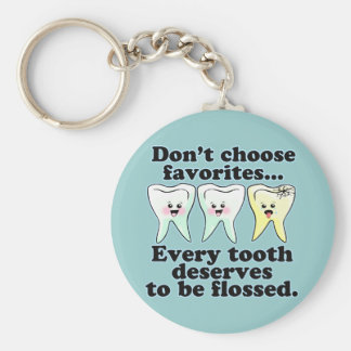 Funny Dental Humor Basic Round Button Key Ring