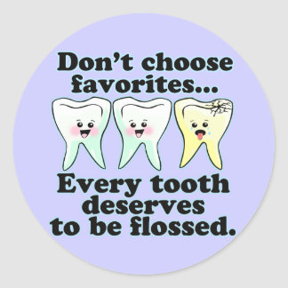 Funny Dental Humor Classic Round Sticker