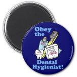 Funny Dental Hygienist 6 Cm Round Magnet