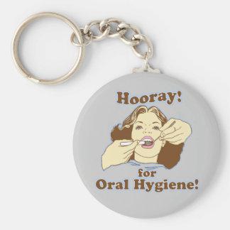 Funny Dental Hygienist Basic Round Button Key Ring