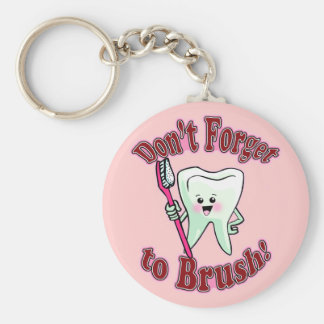 Funny Dental Hygienist Basic Round Button Key Ring