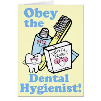 Funny Dental Hygienist Greeting Card