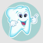 Funny Dental Hygienist Round Sticker