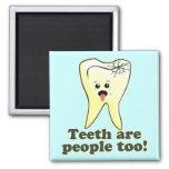 Funny Dental Hygienist Square Magnet
