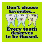 Funny Dental Office Custom Artwork Poster