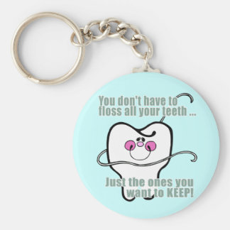 Funny Dentist and Dental Hygienist Basic Round Button Key Ring