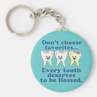 Funny Dentist Basic Round Button Key Ring