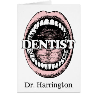 Funny Dentist custom name greeting card