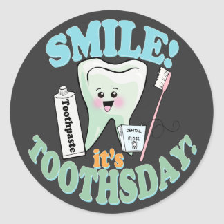Funny Dentist Dental Hygienist Classic Round Sticker