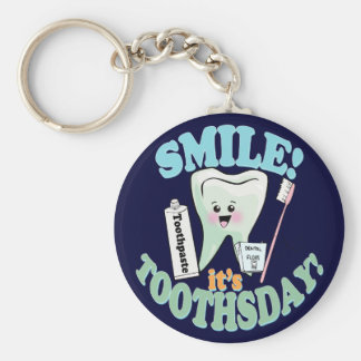 Funny Dentist Dental Hygienist Key Ring