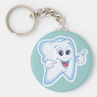 Funny Dentist Dental Hygienist Basic Round Button Key Ring