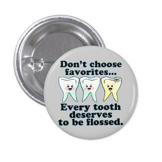 Funny Dentist Dental Hygienist Pins