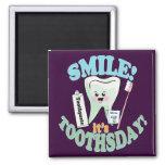 Funny Dentist Dental Hygienist Square Magnet