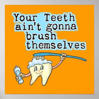 Funny Dentist Office Art Poster
