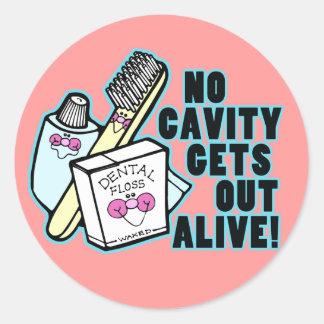 Funny Dentist or Prosthodontist Classic Round Sticker