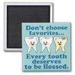 Funny Dentist Square Magnet