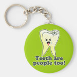 Funny Dentistry Basic Round Button Key Ring