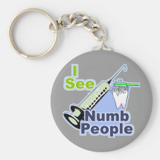 Funny Dentists and Hygienists Basic Round Button Key Ring