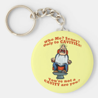 Funny dentists dental hygienists humor basic round button key ring